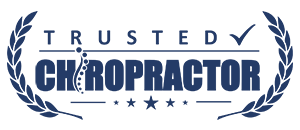 Trusted Chiropractor Badge Logo Blue